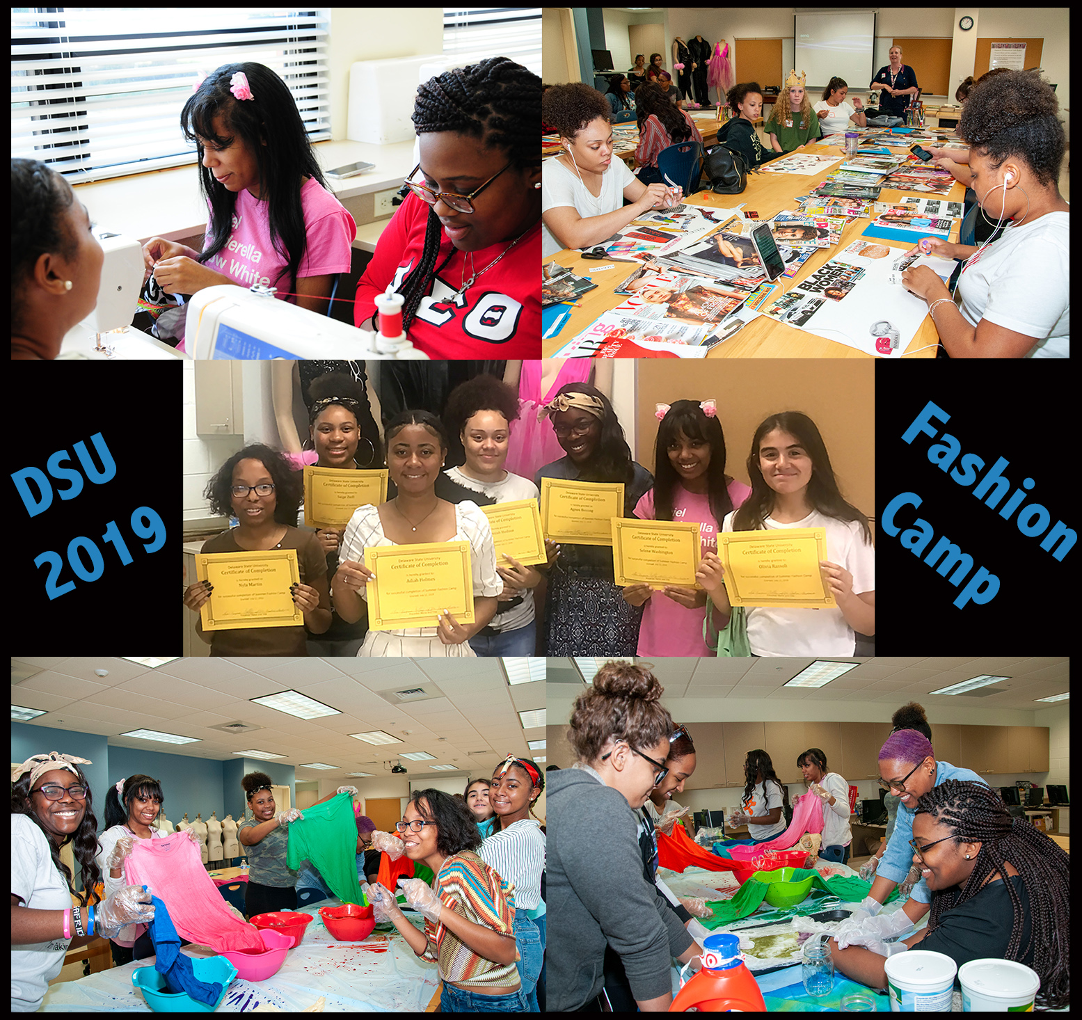 Fashion Camp collage